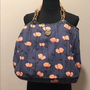 Authentic Tory burch tote bag soft rope handle